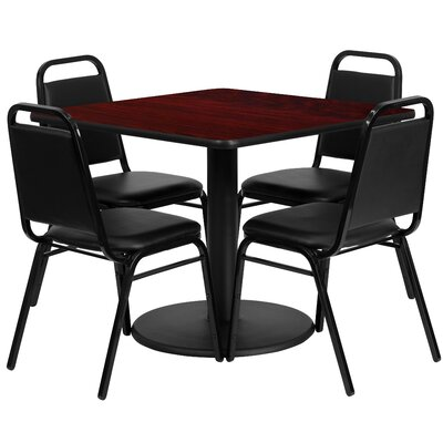 Ke 5 Piece Dining Set Finish: Mahogany