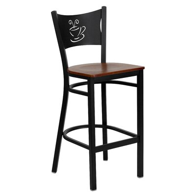 Dillman 29 Bar Stool (Set of 2) Upholstery: Cherry Wood