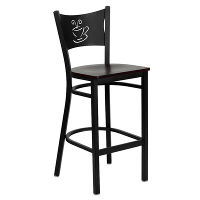 Hercules Series 29 Bar Stool (Set of 2) Upholstery: Mahogany Wood