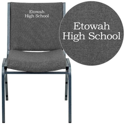 Hercules Series Personalized Heavy Duty Stackable Guest Chair Color: Gray