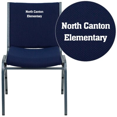 Hercules Series Personalized Heavy Duty Stackable Guest Chair Color: Navy Blue