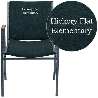 Hercules Series Personalized Heavy Duty Stackable Guest Chair Color: Green