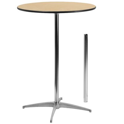 Round Wood Cocktail Table Size: 42 H x 30 W x 30 D
