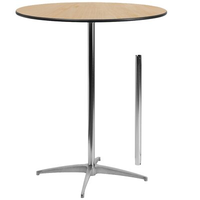 Round Wood Cocktail Table Size: 42 H x 36 W x 36 D