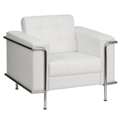 Hercules Lesley Series Leather Lounge Chair Finish: White Product Picture 1292