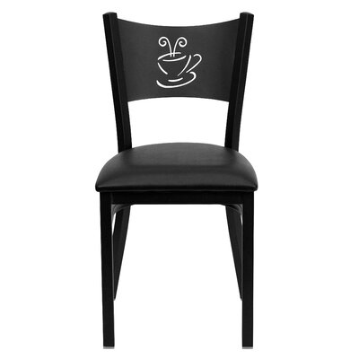 Hercules Series Side Chair Upholstery: Black Vinyl