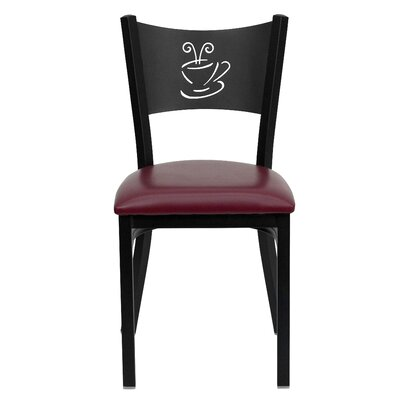 Chafin Solid Back Side Chair Upholstery: Burgundy Vinyl