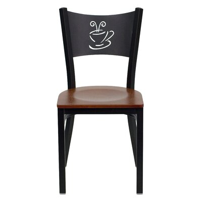 Chafin Solid Back Side Chair Upholstery: Cherry Wood