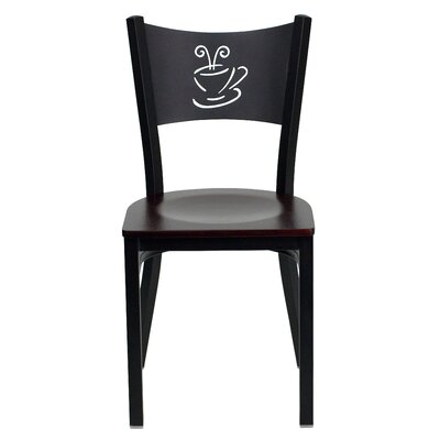 Hercules Series Side Chair Upholstery: Mahogany Wood