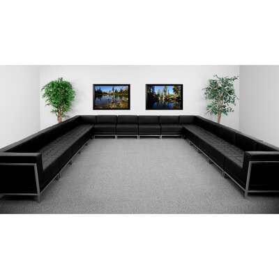 Flash Furniture ZB-IMAG-U-SECT-SET3-GG Hercules Imagination Series Modular Sectional