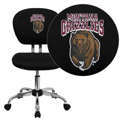 NCAA Embroidered Mid-Back Mesh Task Chair NCAA Team: Montana Arms: Not Included image