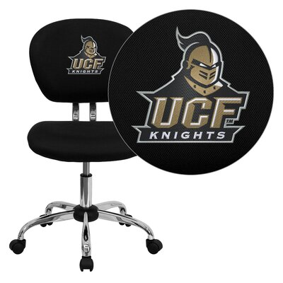 NCAA Embroidered Mid-Back Mesh Task Chair NCAA Team: UCF Arms: Not Included image