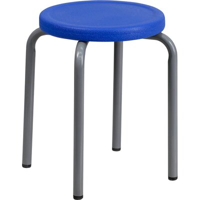 Bouffard 17 Bar Stool (Set of 2) Upholstery: Blue