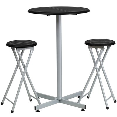 3 Piece 38 Pub Table & Stool Set
