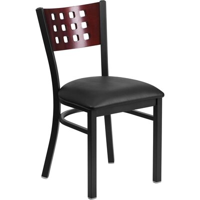 Chafin Modern Solid Back Side Chair Upholstery: Black