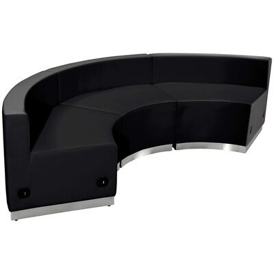 Krysten Sectional Upholstery: Black