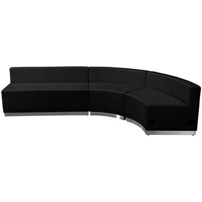 Krysten Sectional Upholstery: Black