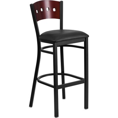 Thornfeldt 32 Bar Stool Upholstery: Black