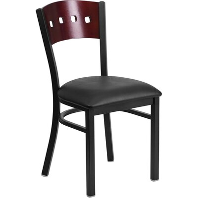 Chafin Metal Side Chair Upholstery: Black