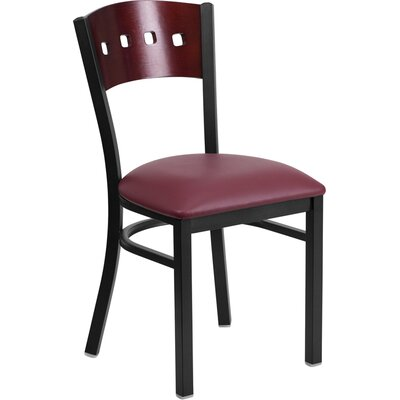Chafin Metal Side Chair Upholstery: Burgundy