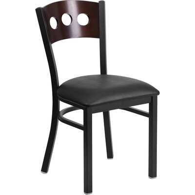 Chafin Side Chair Upholstery: Black
