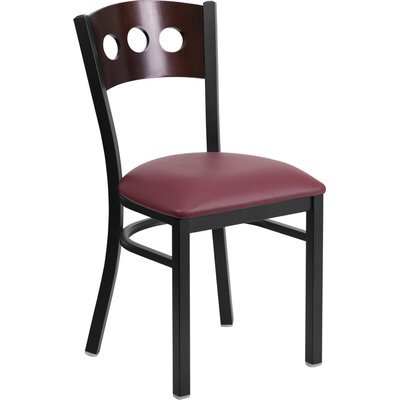 Hercules Series Side Chair Upholstery: Burgundy
