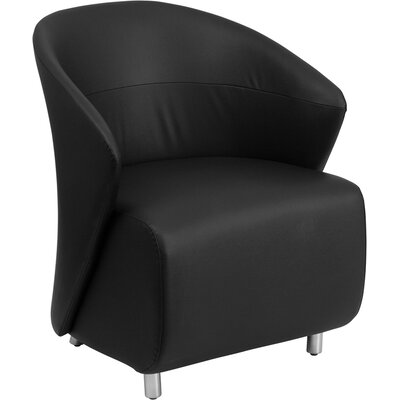 Leather Lounge Chair Color: Black