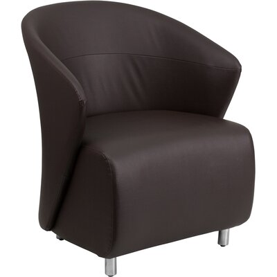 Moshier Leather Lounge Chair Color: Dark Brown
