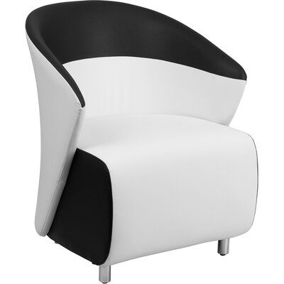 Leather Lounge Chair Color: White / Black