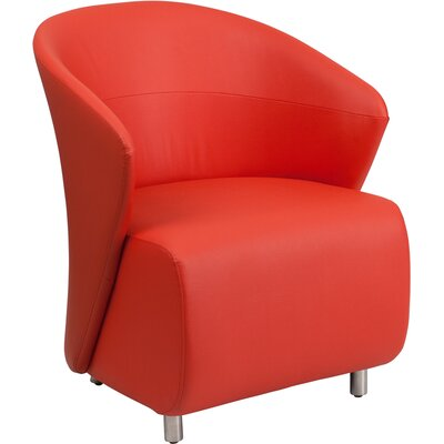 Moshier Leather Lounge Chair Color: Red