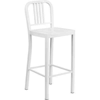 Aston 30 Bar Stool (Set of 2) Finish: White