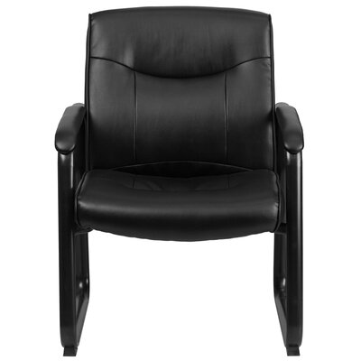 Hutchings 500 lbs Leather Executive Side Guest Chair