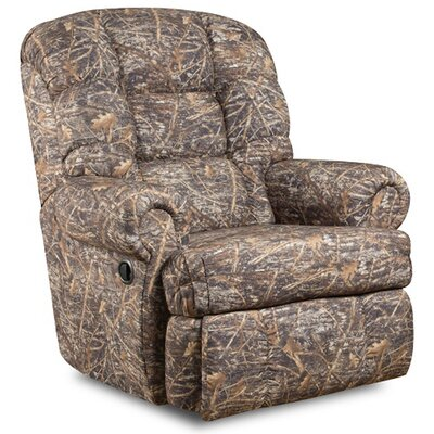 Big and Tall Camouflaged Encore Conceal Fabric Recliner