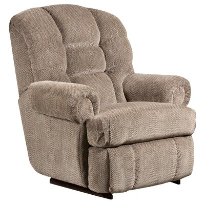 Gazette Big and Tall Microfiber Recliner Upholstery: Pewter