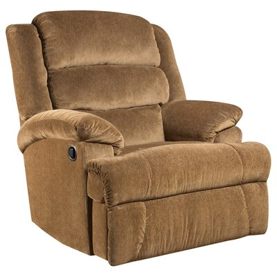 Aynsley Big and Tall Microfiber Recliner (Set of 2) Upholstery: Amber