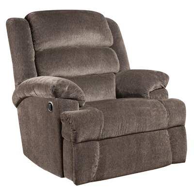 Aynsley Big and Tall Microfiber Recliner (Set of 2) Upholstery: Charcoal