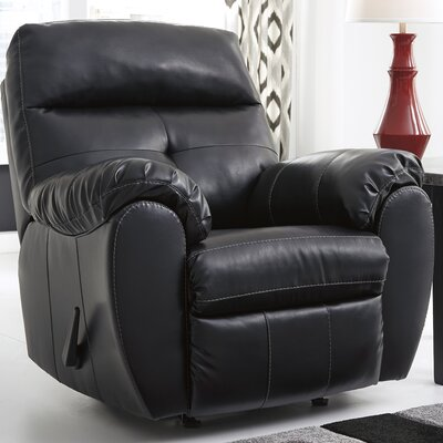 Janke Leather Manual Rocker Recliner Upholstery: Midnight