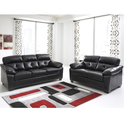 Janke 2 Piece Living Room Set Upholstery: Midnight