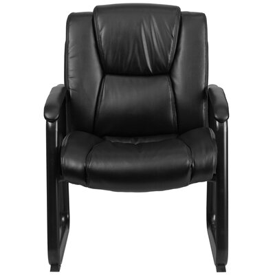 Hercules Series Leather Conference Side Chair