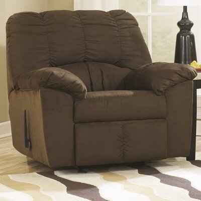 Soledad Manual Rocker Recliner Upholstery: Caf�