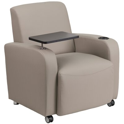Gaffney Leather Guest Chair Color: Gray/Black