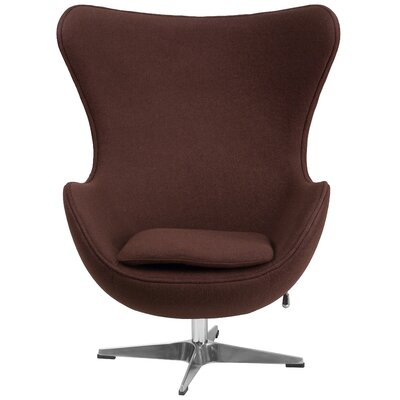 Swivel Balloon Chair Upholstery: Brown