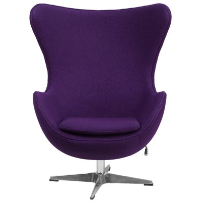 Swivel Balloon Chair Upholstery: Purple