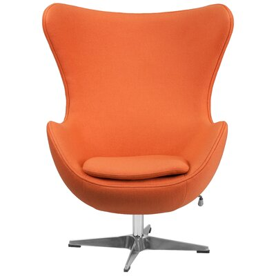 Egg Arm Chair Upholstery: Orange