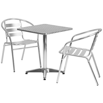 Square 3 Piece Bistro Dining Set Table Size: 27.25 H x 23.5 W x 23.5 D