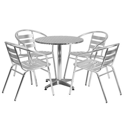 Joanna 5-Piece Dining Set Table Size: 27.25 H x 27.5 W x 27.5 D