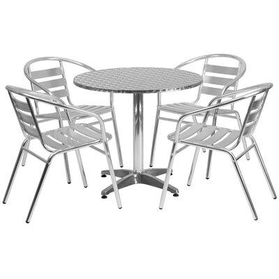 Joanna 5-Piece Dining Set Table Size: 27.25 H x 31.5 W x 31.5 D