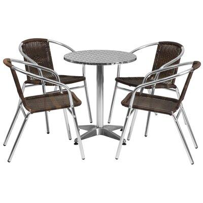 5-Piece Lukas Dining Set Flash Furniture