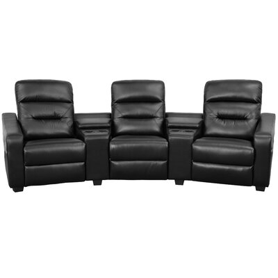 Futura Series Home Theater Recliner Upholstery: Black