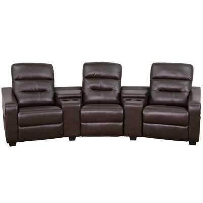 Futura Series Home Theater Recliner Upholstery: Brown